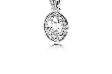 PANDORA Pendant, Vintage Elegance, Sterling Silver & Clear CZ