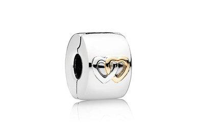 PANDORA Hearts Aglow Clip, Sterling Silver & 14k