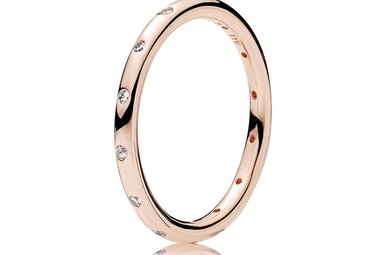 PANDORA Rose Ring, Droplets, Clear CZ - Size 58