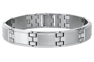 Stainless Steel Gents Bracelet with Soft Satin Finish 8 3/4″