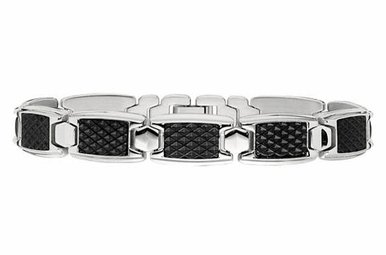 Textured Gents Stainless Steel Bracelet