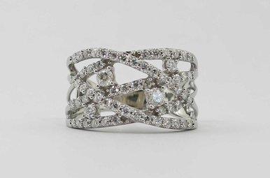 14KW 1CTW LADIES ROUND BRILLIANT DIAMOND WIDE RING