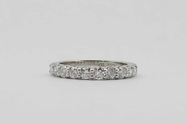 14KW 1CTW ROUND BRILLIANT DIAMOND STACKABLE LADIES WEDDING BAND