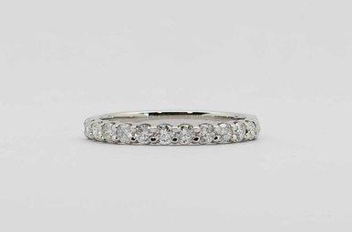 14KW 1/2CTW ROUND BRILLIANT DIAMOND STACKABLE LADIES WEDDING BAND