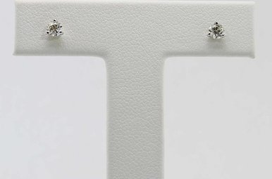 14KW 1/4CTW ROUND BRILLIANT DIAMOND MARTINI SET STUD EARRINGS