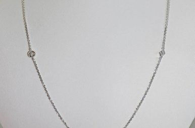 14KW .22CTW DIAMOND STATION LADIES NECKLACE