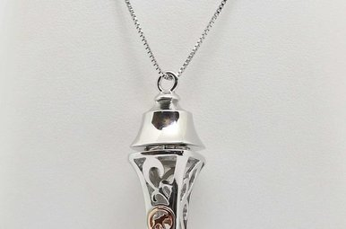 STERLING SILVER & 14K ROSE GOLD PERFUME / ESSENTIAL OIL PENDANT