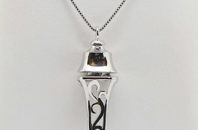 STERLING SILVER PERFUME / ESSENTIAL OIL PENDANT