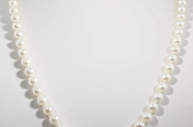 """14KW 20"""" 6.5-7MM FRESHWATER PEARL STRAND NECKLACE"""