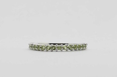 10KW PERIDOT STACKABLE LADIES AUGUST BIRTHSTONE BAND