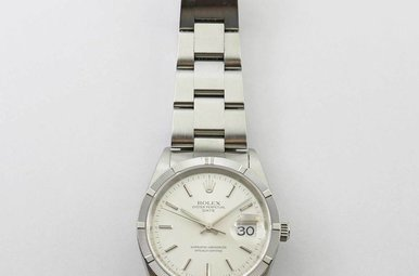 STAINLESS PREOWNED GENTS ROLEX DATE WITH OYSTER BAND