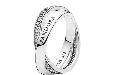 PANDORA Promise Ring, Clear CZ, Sterling Silver - Size 48