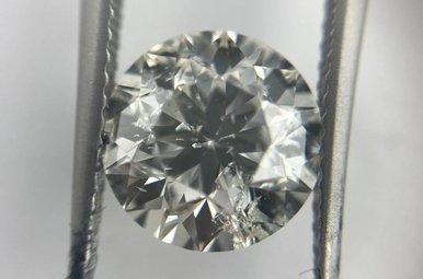 3.00ct H/SI3 Round Brilliant Cut Diamond