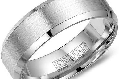 Cobalt 7mm Gents Torque Wedding Band, Size 10