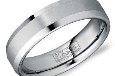Tungsten 6mm Gents Torque Wedding Band, Size 10