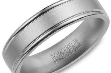 Titanium 6mm Gents Torque Wedding Band, Size 10
