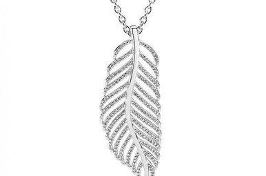 PANDORA Light as a Feather Necklace, Clear CZ - 90 cm