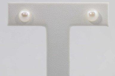 14KW 6-6.5MM FRESHWATER PEARL STUD EARRINGS