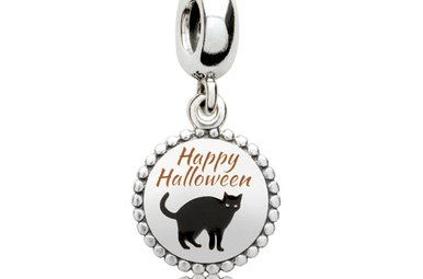 PANDORA Charm, Happy Halloween Black Cat