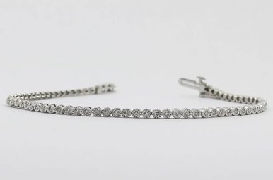 10KW 1/2ctw Round Brilliant Diamond Ladies Bracelet