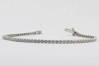 10KW 1/2ctw Round Brilliant Diamond Ladies Bracelet