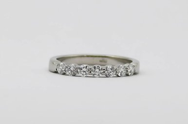Platinum 1/2ctw G/VS1 Round Brilliant Diamond Ladies Stackable Wedding Band