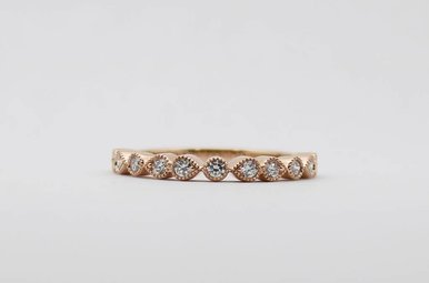 14KR .30ctw Ladies Diamond Stackable Wedding Band