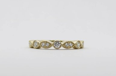 14ky .32ctw Ladies Diamond Stackable Wedding Band