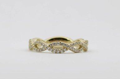 14ky .43ctw Ladies Diamond Stackable Infinity Wedding Band