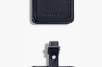 Shinola Luggage ID Black Leather Tag