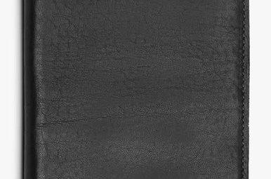 Shinola Passport Holder Black Leather