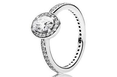 PANDORA Ring Vintage Elegance, Clear CZ - Size 54