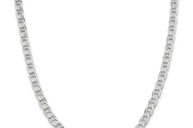 "Sterling Silver 22"" 6.5mm Flat Anchor Chain"