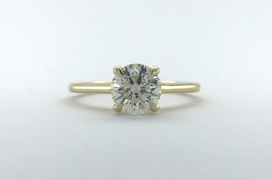 14k Yellow Gold 1.21ct J-K/VS1 Round Brilliant Solitaire Engagement Ring (Size 6)