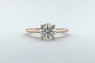 14k Rose Gold 1.23ct J-K/VS1 Round Brilliant Diamond Solitaire Engagement Ring (Size 6)