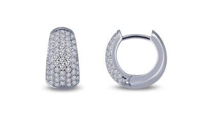 Lafonn 1.12cttw 112 Stone Pave Huggie Earrings