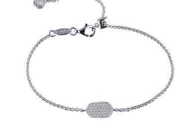 Lafonn 0.59cttw 35 Stones Pave Station Adjustable Bracelet
