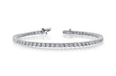 Lafonn Ladies Bracelet Simulated Diamonds, Sterling Silver 7.25""