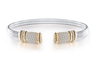 Lafonn Milano Cuff Bracelet Simulated Diamonds, Sterling Silver 7.25""