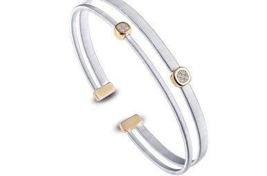 "Lafonn Milano Cuff Bracelet Simulated Diamonds, Sterling Silver 7.25"""