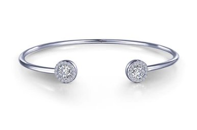 Lafonn Cuff Bracelet Simulated Diamonds, Sterling Silver 7.25""