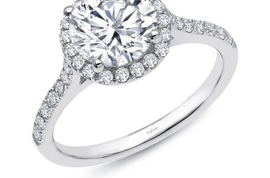 Lafonn Halo Ring Simulated Diamonds 2.51ctw, Sterling Silver - Size 7