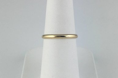10k Yellow Gold 2mm Polished Stackable Wedding Band (Size 6)