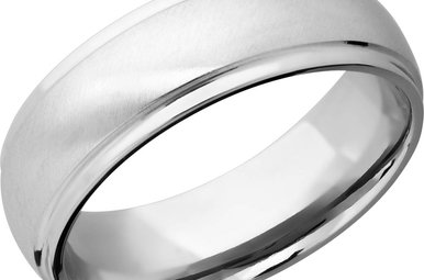 Lashbrook Cobalt Chrome 7mm Angle Satin/Polish Men's Wedding Band (Size 9.5)