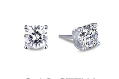 Lafonn 3.18cttw 2 Stone 4 Prong Basket Stud Earrings