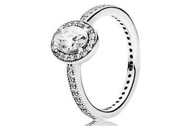 PANDORA Ring, Vintage Elegance, Clear CZ - Size 56