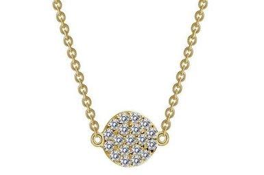 Lafonn 0.38cttw 38 Stone Pave Disc Gold Adjustable Necklace