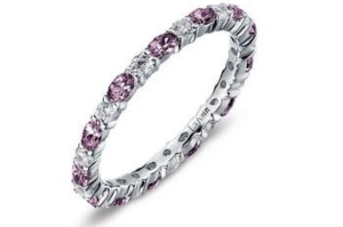 Lafonn Simulated June Birthstone Stackable Band, 26 stones 2.34ctw - Size 6