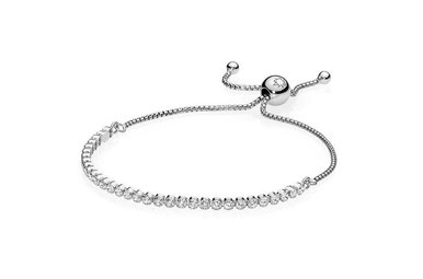 PANDORA Sparkling Strand Bracelet, Clear CZ - 25 cm / 9.8 in