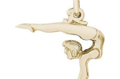 14ky Vaulting Gymnast Charm